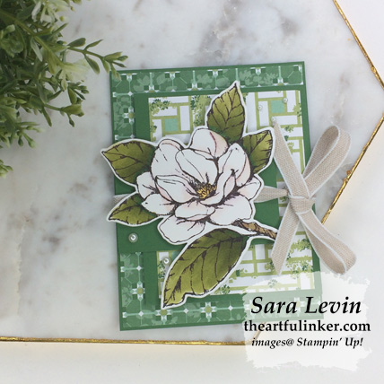 Good Morning Magnolia Flap Fold card. Shop for Stampin Up products at theartfulinker.com