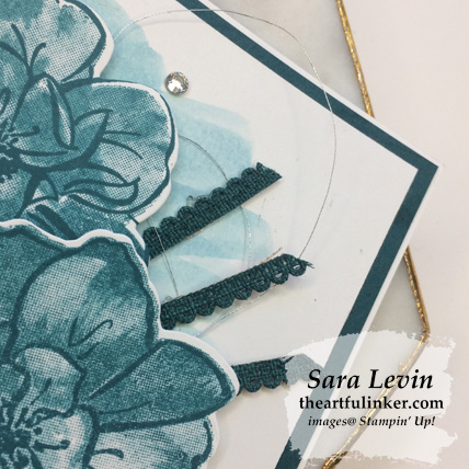 In Color To a Wild Rose avid stamping card, background detail. Shop for Stampin Up products at theartfulinker.com