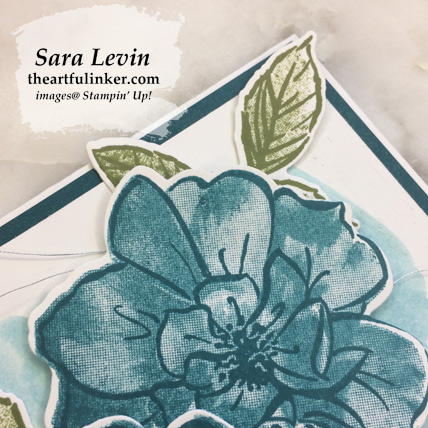 In Color To a Wild Rose avid stamping card, rose detail. Shop for Stampin Up products at theartfulinker.com