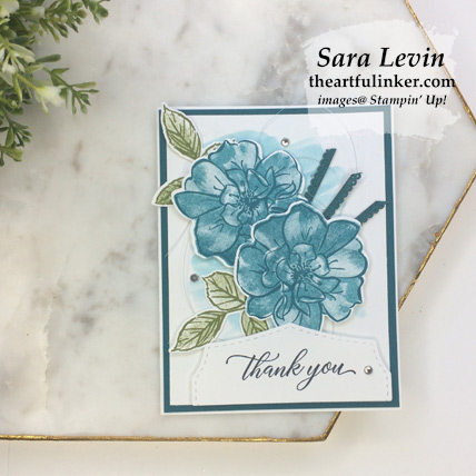 Learn how to make this In Color To a Wild Rose avid stamping card with a FREE tutorial download. Shop for Stampin Up products at theartfulinker.com