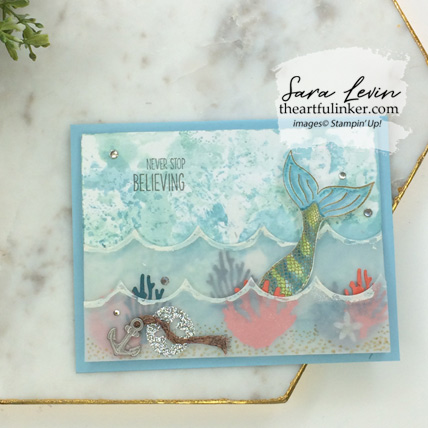 Magical Mermaid with Seasonal Layers card. Shop for Stampin Up products at theartfulinker.com