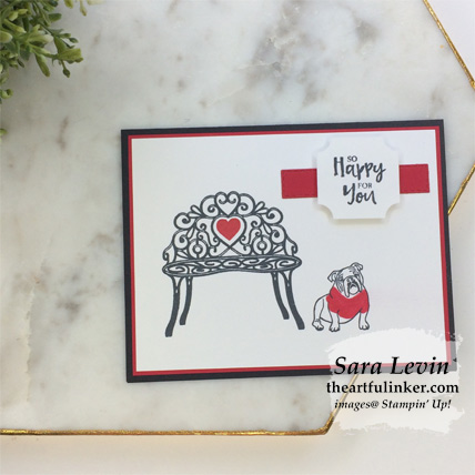 Sitting Pretty retirement card. Shop for Stampin Up products at theartfulinker.com