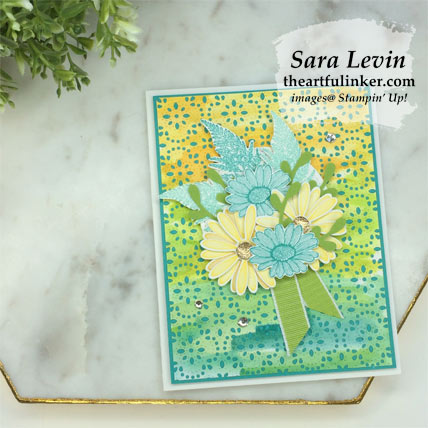 Stamping Sunday Blog Hop Daisy Lane Pigment Sprinkles card. Shop for Stampin Up products at theartfulinker.com