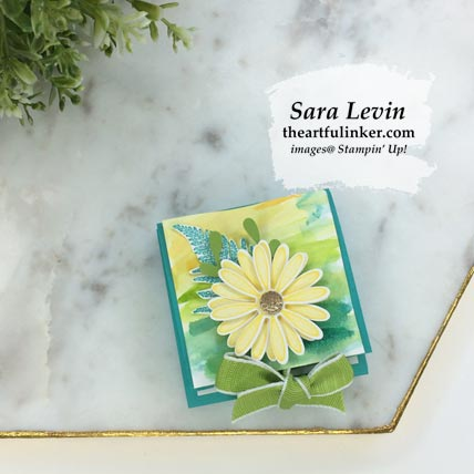 Stamping Sunday Blog Hop Daisy Lane Pigment Sprinkles treat box. Shop for Stampin Up products at theartfulinker.com