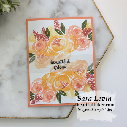 Beautiful Friendship simple wow card with Grapefruit Grove mat. Shop for Stampin Up products at theartfulinker.com