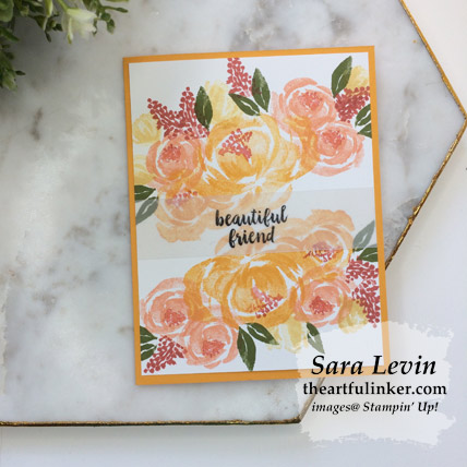 Beautiful Friendship simple wow card with Mango Melody mat. Shop for Stampin Up products at theartfulinker.com
