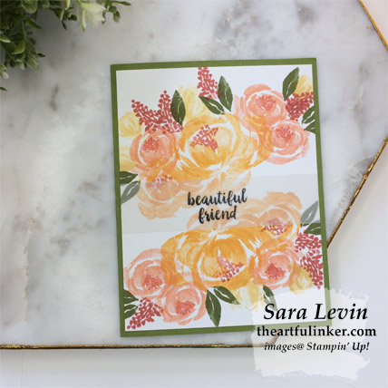 Beautiful Friendship simple wow card with Old Olive mat. Shop for Stampin Up products at theartfulinker.com
