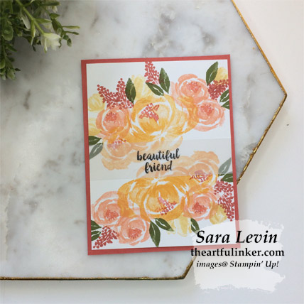 Beautiful Friendship simple wow card with Terracotta Tile mat. Shop for Stampin Up products at theartfulinker.com