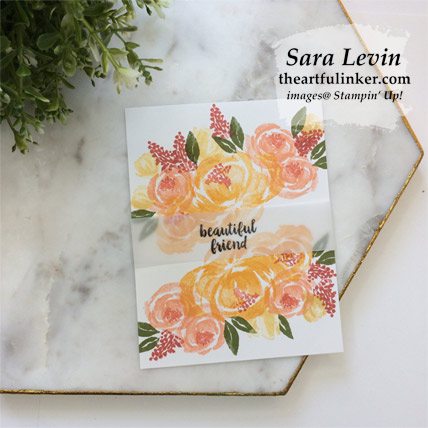 Beautiful Friendship simple wow no layer card. Shop for Stampin Up products at theartfulinker.com