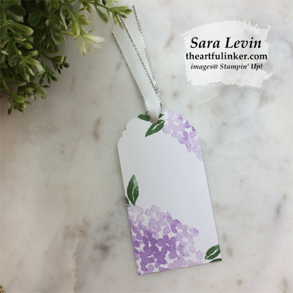 Beautiful Friendship tags, single with hydrangeas.  Shop for Stampin Up products at theartfulinker.com