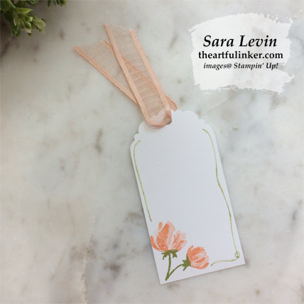 Beautiful Friendship tags, single tag with hand drawn border.  Shop for Stampin Up products at theartfulinker.com
