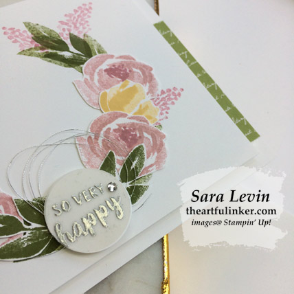 Beautiful Friendship Wreath Card with FREE tutorial, sentiment detail. Shop for Stampin Up products at theartfulinker.com