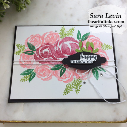 Learn how to make this Beautiful Friendship for GDP198 card with a FREE tutorial. Shop for Stampin Up products at theartfulinker.com