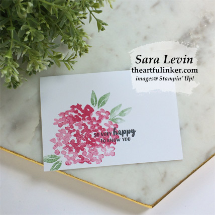 Beautiful Friendship no layer card. Shop for Stampin Up products with theartfulinker.com