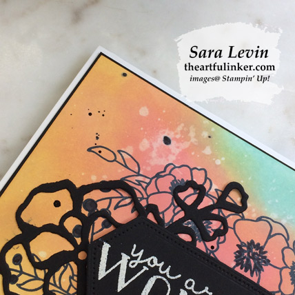 Learn how to make this Bloom and Grow with Faux Oxide Ink Technique card with a FREE tutorial download, detail. Shop for Stampin Up products at theartfulinker.com