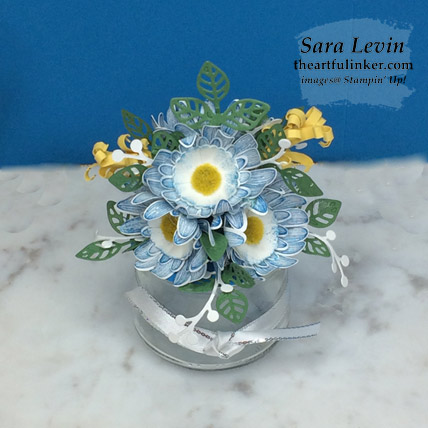 Daisy Lane flower arrangment for the Home Decor SU Style Blog Hop July 2019. Shop for Stampin Up products at theartfulinker.com