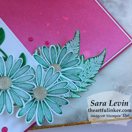 Daisy Lane with Inked Background card, daisy detail. Shop for Stampin Up products at theartfulinker.com