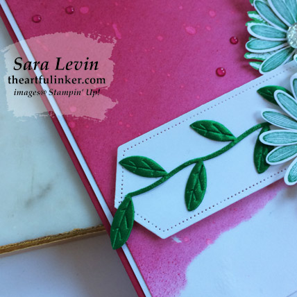 Daisy Lane with Inked Background card, label detail. Shop for Stampin Up products at theartfulinker.com