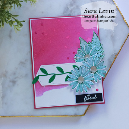 Learn how to make this Daisy Lane with Inked Background card. Shop for Stampin Up products at theartfulinker.com