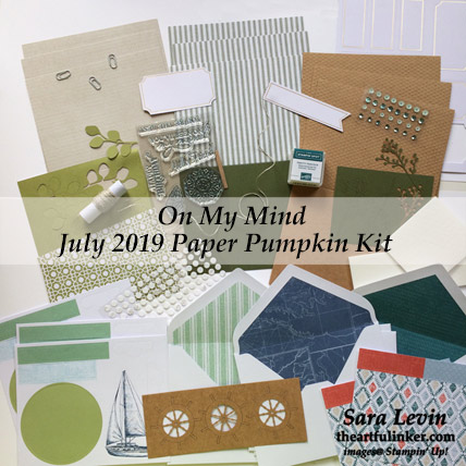 On My Mind July 2019 Paper Pumpkin kit. Shop for Stampin Up products at theartfulinker.com