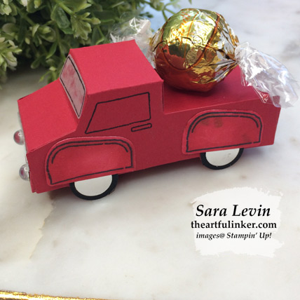 Ride with Me truck side view. Shop for Stampin Up products at theartfulinker.com