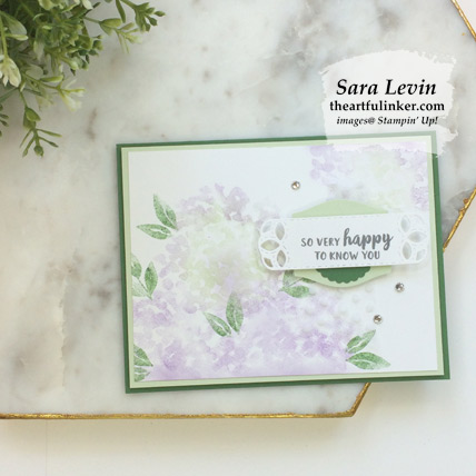 Softly Feminine Beautiful Friendship Hydrangea card with video. Shop for Stampin Up products at theartfulinker.com