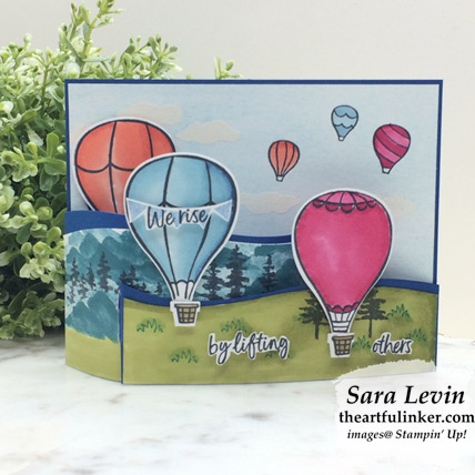 Learn how to make this Stamping Sunday Above the Clouds Bendi Card. Shop for Stampin Up products at theartfulinker.com