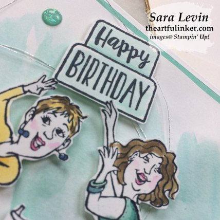 Learn how to make this Young at Heart Birthday Card with a video and FREE tutorial download. Shop for Stampin Up products at theartfulinker.com