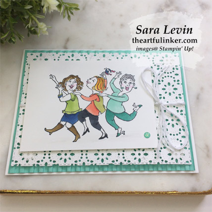 Learn how to make this Young at Heart Card Two Ways, stepped up card with the video tutorial. Shop for Stampin Up products from theartfulinker.com