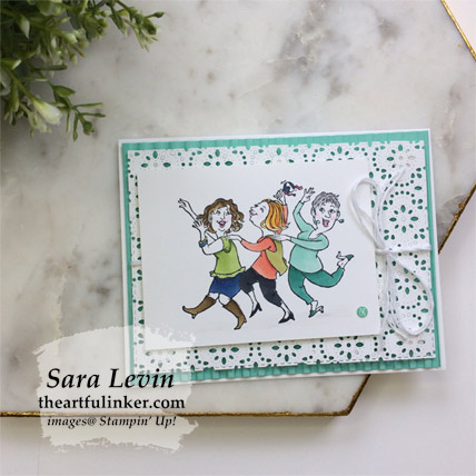 Learn how to make this Young at Heart Card Two Ways, stepped up card. Shop for Stampin Up products at theartfulinker.com