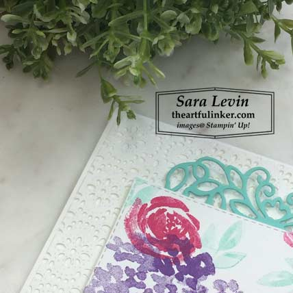 Learn how to make this Beautiful Friendship for TGIFC223 card, stitched lace detail. Shop for Stampin Up products at theartfulinker.com