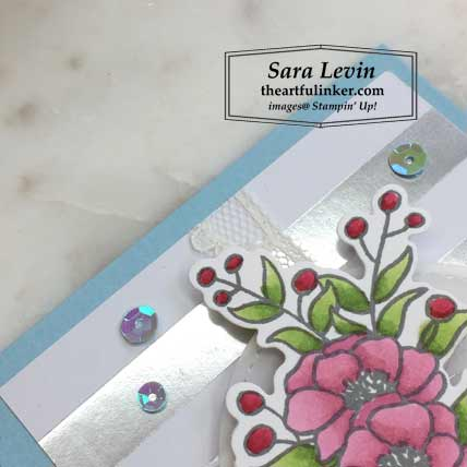 Bloom and Grow with Feels Like Frost card, designer paper detail. Shop for Stampin Up products at theartfulinker.com