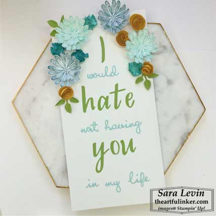 Daisy Lane Hand Lettered Prose plaque for Home Decor SU Style Blog Hop August 2019. Shop for Stampin Up products at theartfulinker.com