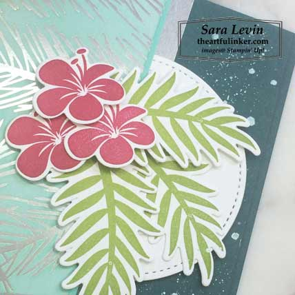 Feels Like Frost with Tropical Chic card, layers detail. Shop for Stampin Up products at theartfulinker.com