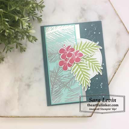 Feels Like Frost with Tropical Chic card. Shop for Stampin Up products at theartfulinker.com