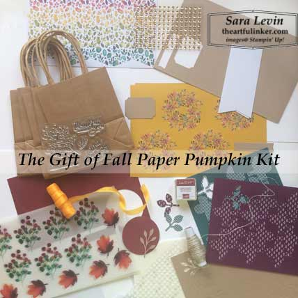 August 2019 Paper Pumpkin kit contents, A Paper Pumpkin Thing Blog Hop Gift of Fall. Shop for Stampin Up products at theartfulinker.com