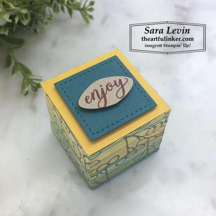 A Paper August 2019 Paper Pumpkin alternative favor, top view - A Pumpkin Thing Blog Hop Gift of Fall. Shop for Stampin Up products at theartfulinker.com