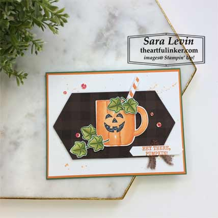Harvest Hellos Cup of Christmas card with layers. Shop for Stampin Up products at theartfulinker.com