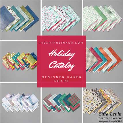 Stampin Up Holiday Catalog Designer Paper Share. Shop for Stampin Up products at theartfulinker.com