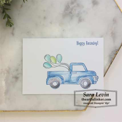 Ride with Me Fast Friday no layer card. Shop for Stampin Up products at theartfulinker.com