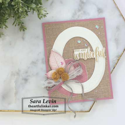 Rooted in Nature his and hers layout, her card. Shop for Stampin Up products at theartfulinker.com