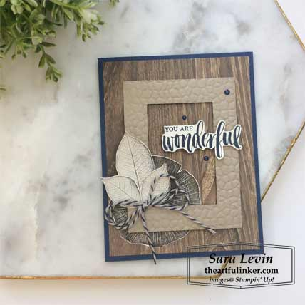 Rooted in Nature his and hers layout, his card. Shop for Stampin Up products at theartfulinker.com