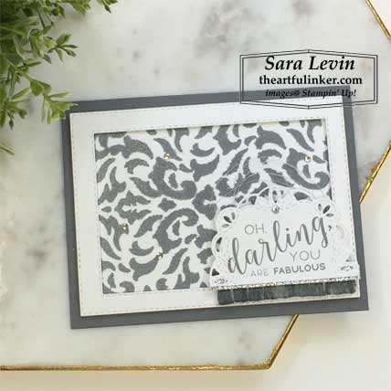 Stitched All Around in Basic Gray card. Shop for Stampin Up products at theartfulinker.com