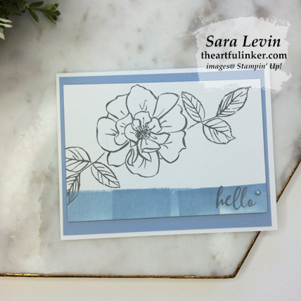 To a Wild Rose Simple Card in Seaside Spray, stepped up. Shop for Stampin Up products at theartfulinker.com