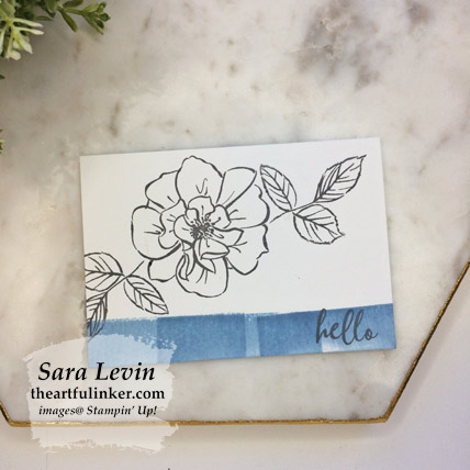 To a Wild Rose Simple Card in Seaside Spray. Shop for Stampin Up products at theartfulinker.com