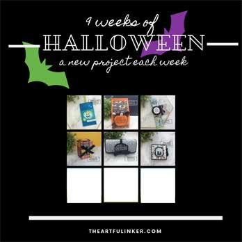 Spooktacular Bash Reese's Cup Holder for 9 Weeks of Halloween tutorial bundle Week 6. Shop for Stampin Up products at theartfulinker.com