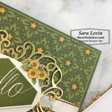 Accented Blooms with Night Before Christmas card, detail. Shop for Stampin Up products at theartfulinker.com