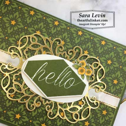 Accented Blooms with Night Before Christmas card, sentiment detail. Shop for Stampin Up products at theartfulinker.com