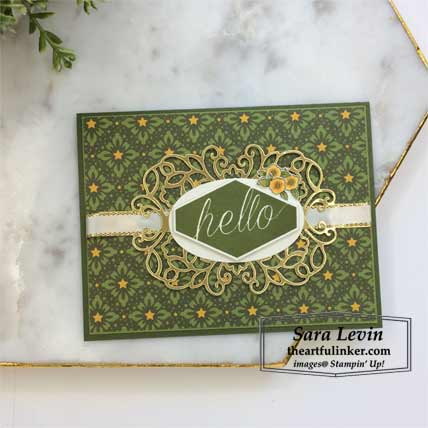 Accented Blooms with Night Before Christmas card. Shop for Stampin Up products at theartfulinker.com