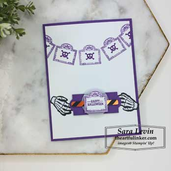 A Paper Pumpkin Thing Blog Hop Bone Appetit alternative Halloween card. Shop for Stampin Up at theartfulinker.com